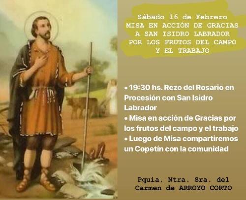 Procesión y Misa en Arroyo Corto