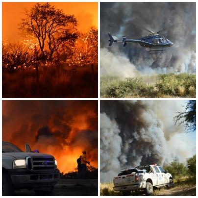 Se reavivó el fuego en La Pampa y hay 600.000 hectáreas afectadas