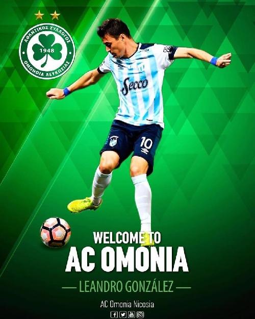 Omonia Nicosia de Chipre le da la bienvenida al pigüense Leandro González.