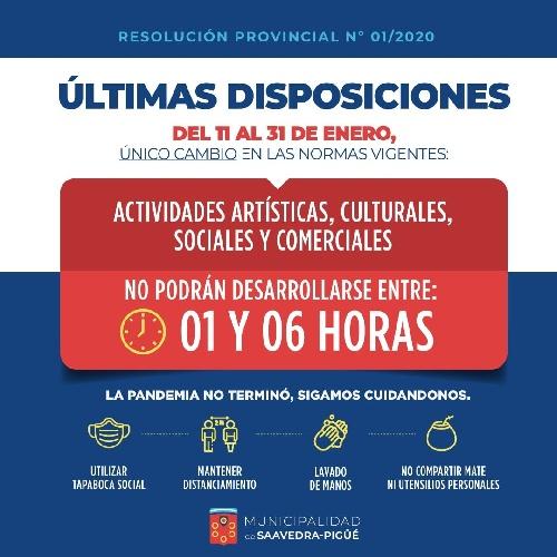 CAMBIOS VIGENTES EN EL DISTRITO DE SAAVEDRA PIGÜÉ