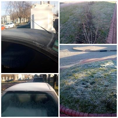 Pigüé blanco invierno bajo cero