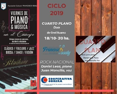 Viernes de piano y musica en el HCD