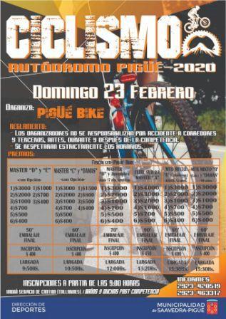 Pigüé Bike organiza competencia para el venidero domingo.