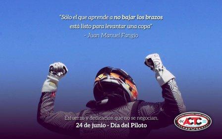 Hoy se celebra el Día Nacional del Piloto en conmemoración al nacimiento de Fangio.