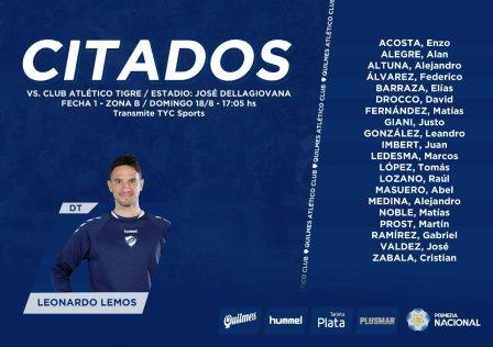 1ra Nacional - Leo González y Martín Prost convocados para jugar ante Tigre.