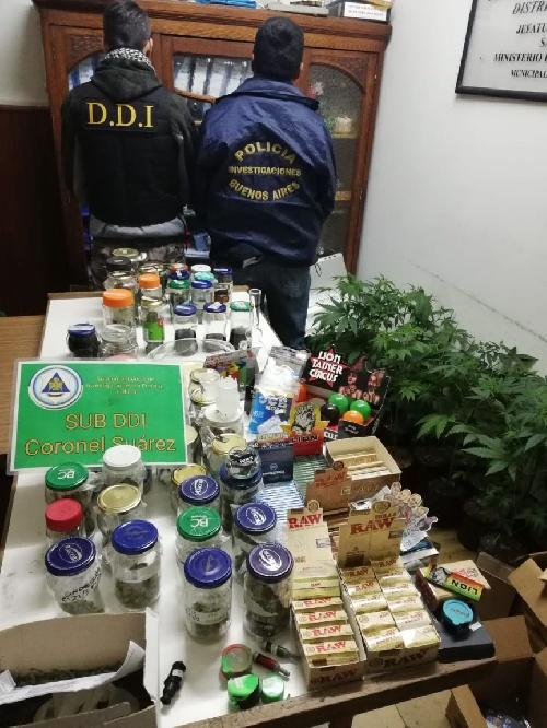 Pigüé : la policia realizó allanamientos que resultaron en dos aprehendidos y secuestro de marihuana y elementos