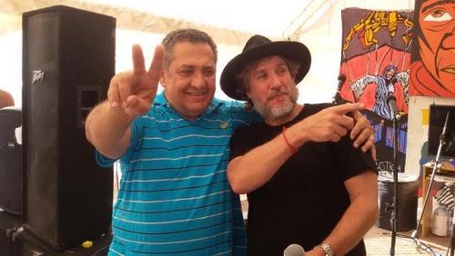 Boudou junto a D'Elía en el acampe K de Plaza de Mayo por Milagro Sala