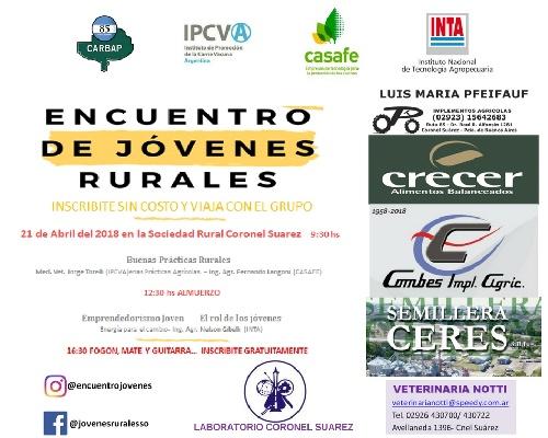 La Sociedad Rural Pigüé convoca a participar de una jornada para jovenes rurales