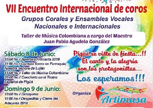 ARTICANTA: Comenzó la Séptima edición del Encuentro Internacional de  Coros en Pigüé