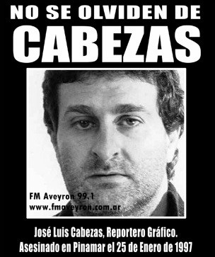 NO SE OLVIDEN DE JOSE LUIS CABEZAS