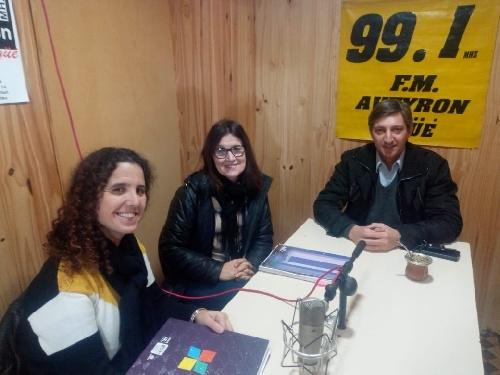Gustavo Notararigo, Ana L. Garcia y Sandra Simón de Juntos por el Cambio  en La Brujula Electoral 99.1 FM Aveyron