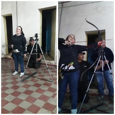 Agradecimiento de Tiro Federal Pigüé Arqueria por la colaboración para adquirir un tripode para ciegos