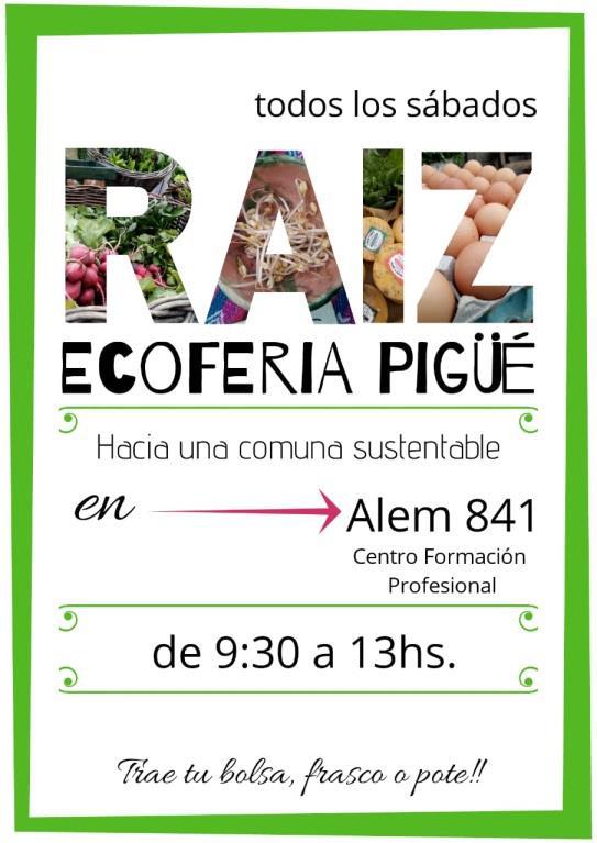 RAIZ EcoFeria se muda al Centro de Formación Profesional de Pigüé