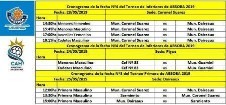Handball - Sarmiento estará jugando en Daireaux en Masculino - 1ra división