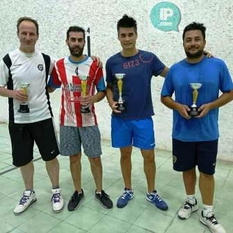 Pelota Paleta - Lucas Salas obtuvo campeonato en Blanco y Negro.
