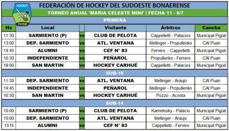 Hockey Femenino - Se juega la fecha 11 del torneo de la Federación.
