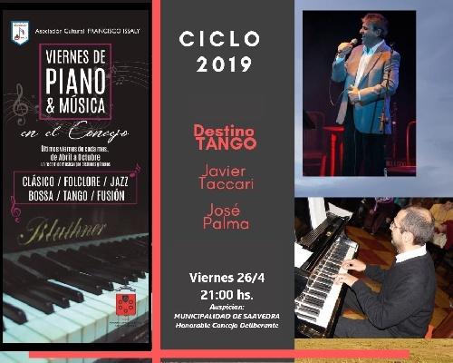 Viernes de piano y música en el Concejo Deliberante