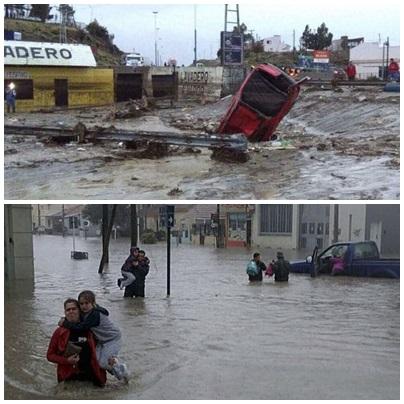 Las inundaciones dejaron evacuados y hay alerta en diez provincias