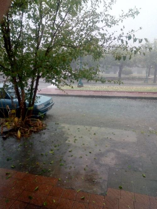 La fuerte tormenta en Pigüé, además de la granizada dejo 33 mm de lluvia