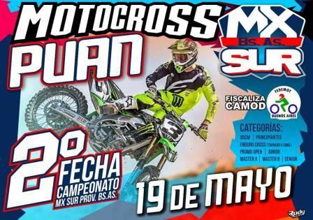 Motocross - El 19 de mayo habrá actividad en Puán.
