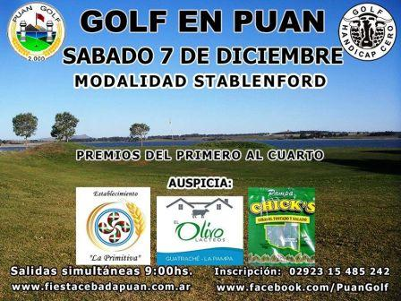Golf - El venidero fin de semana se juega torneo de relevancia en Puán.
