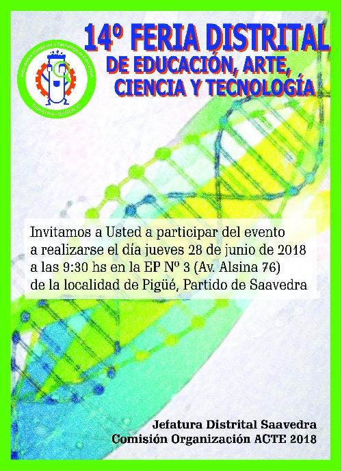 Pigüé: 14º Feria Distrital de Educación, arte, ciencia y tecnología