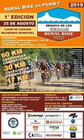 """Rural Bike - Ya se promociona el """"Desafío de los Cerros"""" en Puán."""