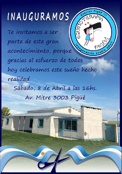 Equinoterapia Pigüé inaugura sus instalaciones