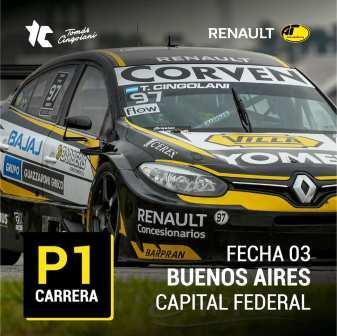 TC 2000 - Tomás Cingolani venció en el Oscar y Juan Gálvez capitalino.