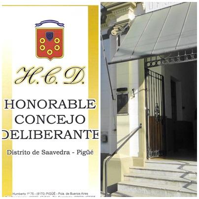 SEPTIMA SESIÓN ORDINARIA DEL HONORABLE CONCEJO DELIBERANTE DEL PARTIDO DE SAAVEDRA - PIGUE