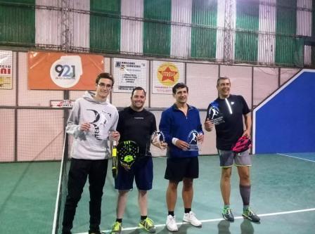 Padel - Oscar Bru y Lavernhe ganadores de torneo de 7ma división.
