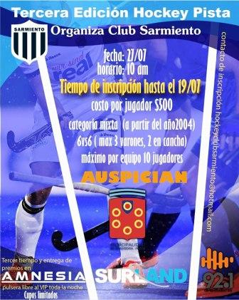 Hockey Pista - Club Sarmiento organiza para fines de julio la 3ra edición.