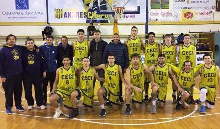 Basquet Santafecino - CECI BC se quedó con el clásico de Galvez - 19 puntos de Biscaychipy.