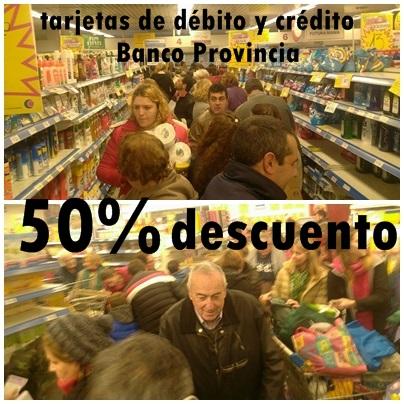 Regresaron los supermiércoles con descuento del 50% de Banco Pcia de Buenos Aires -  Conocé quienes adhieren