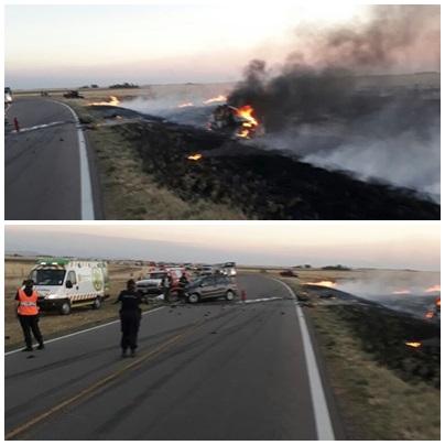 Ruta Nacional 33 : Accidente con victimas fatales y heridos de gravedad