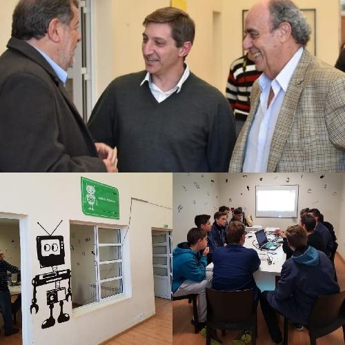 Gustavo Notararigo con el Ministro de la Nacion Ing. Jorge Elustondo