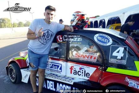 Fórmula 3cv  - Lucas Laguzzi el poleman del día sábado.