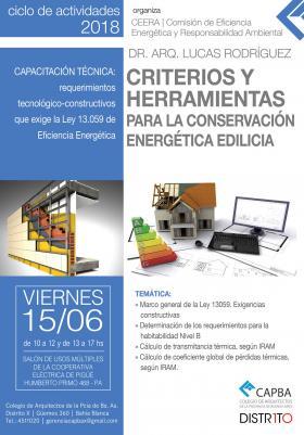 Capacitación para arquitectos y maestros mayores de obra en Pigüé