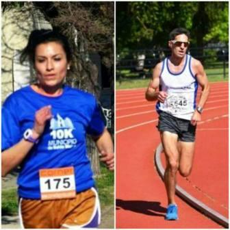 Atletismo - Lucas Negro y Yani Clair en lo mas alto del podio 10 K en Pigüé.
