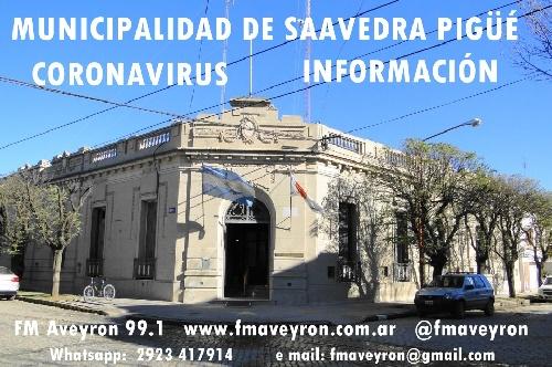 NUEVO PARTE DE SALUD MUNICIPAL: NO HAY  ACTUALMENTE CASOS DE CORONAVIRUS,  CONTINUA AISLAMIENTO Y ANALISIS