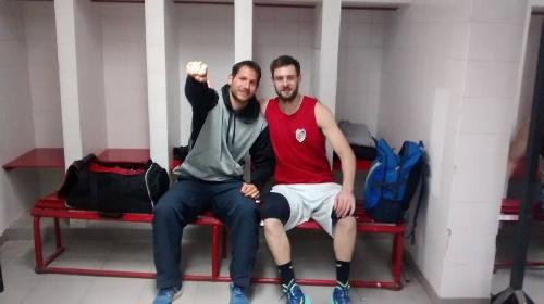 Federal Basquet - David Fric goleador y figura en amistoso con River Plate.