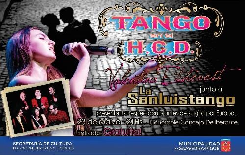 Valentina Etchebest con La San Luis Tango en el HCD