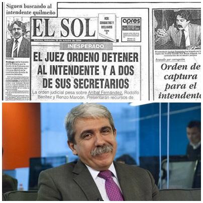 Anibal Fernandez es ícono de intendentes del conurbano bonaerense con décadas de historias de delitos