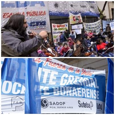 Jornada provincial de protesta convocada por el  Frente de Unidad Docente Bonaerense
