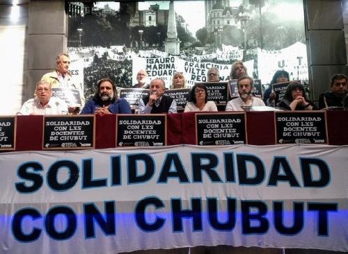 Paro docente de 24 horas en todo el país y movilización a la Casa de Chubut en Buenos Aires