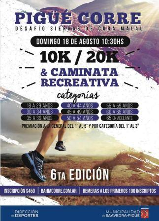 Atletismo - Se avecina el Desafío Sierras del Curu Malal en su 6ta edición.