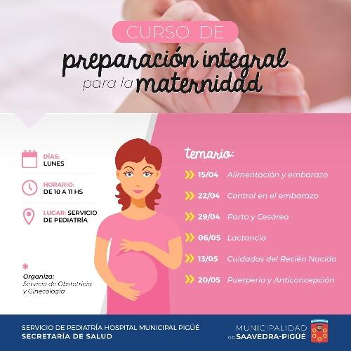 Curso de preparación integral para la maternidad en Pigüé