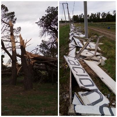 El Autódromo Ciudad de Pigüé  tras el paso del temporal