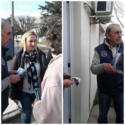 CAMBIEMOS BUENOS AIRES realizó un timbreo en barrios de Pigüé