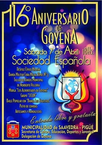 Festejos en Goyena
